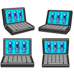 Four laptop Computers