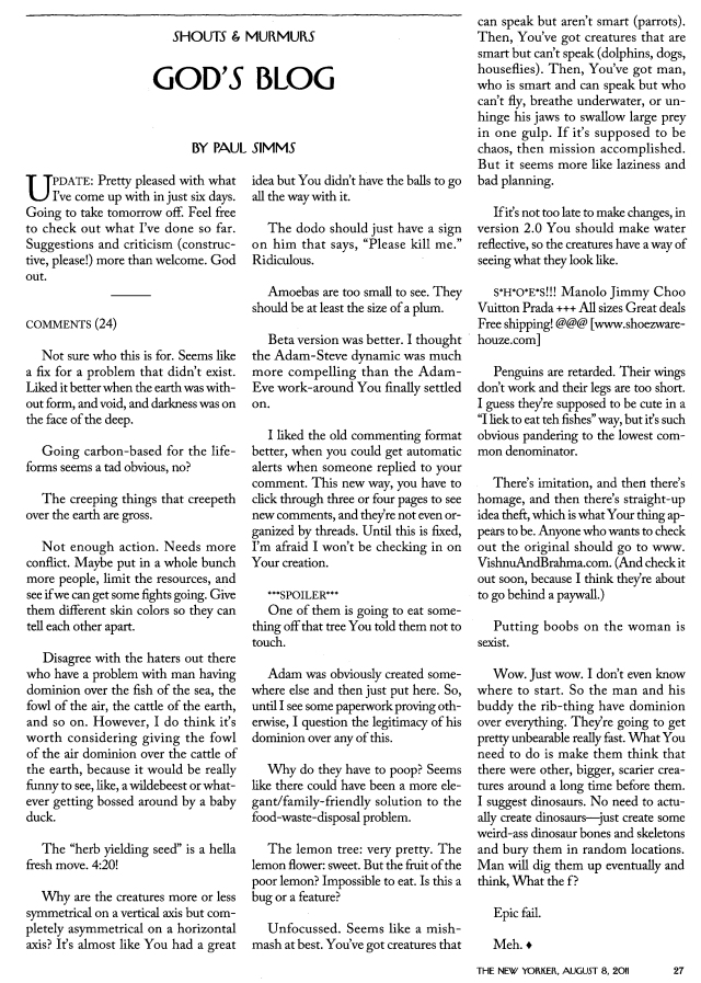 God's Blog