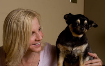 Joni Cole with her dog