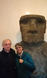 Ed and I at the Easter Island Stature in the Smithsonian museum
