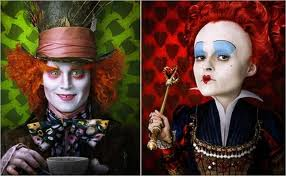 Mad Hatter and the Queen of Hearts