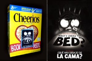 "Cheerios Box with book ""What's Under MY Bed"""