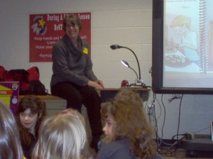 "Reading ""Annie's Special Day"" to kids at Elementary School."