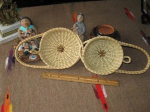 Open sweet grass basket given to my sister,