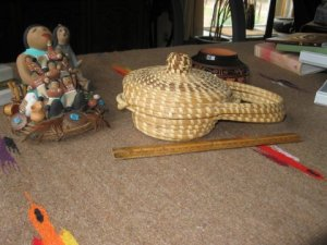 Closed sweet grass basket