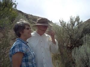 Husb and I in Washington State on Trail hiking