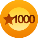I've received a 1000 *Likes* on my blog!