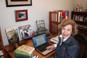 Linda Sittig at her desk
