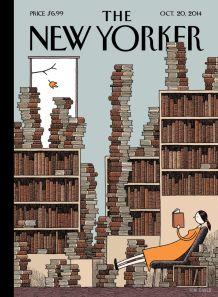 New Yorker Cover Fall library